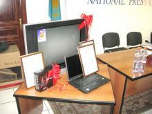 Призы победителям Исторической интернет-игры «Тайны Улытау», разработанной Агентством Креативных Решений «SHAIKH» при спонсорской поддержке Корпорации «Казахмыс»